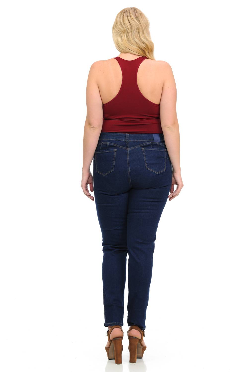 Sweet Look Missy Size High Waist Push Up Jeans