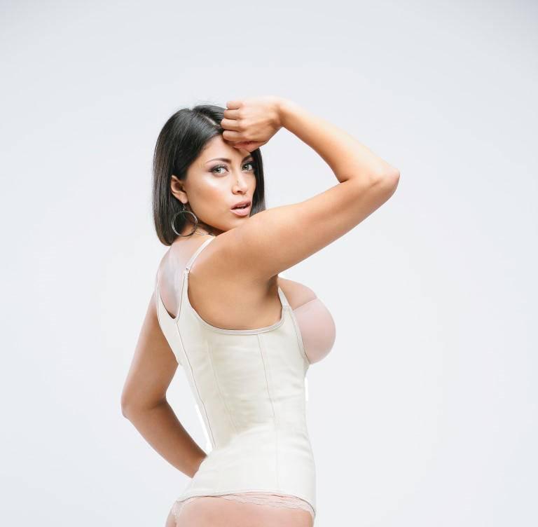 Sweet Look Women's Latex Sport Girdle Waist Training Corset Waist Body Shaper